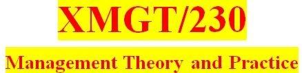 XMGT 230 Week 4: Assignment: Management Planning Presentation