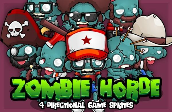 Zombie Horde - Game Sprites
