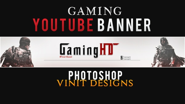 Premade Gaming YouTube Banner Template
