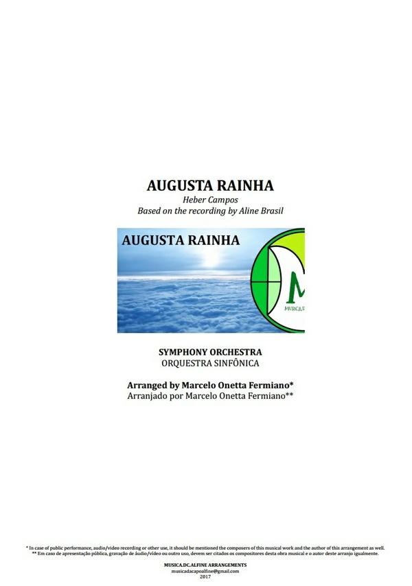 Augusta Rainha | Orquestra Sinfônica | INSTRUMENTAL | Partitura Completa