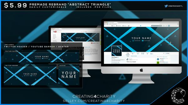 """Abstract Triangle"" pre-made social media rebrand"