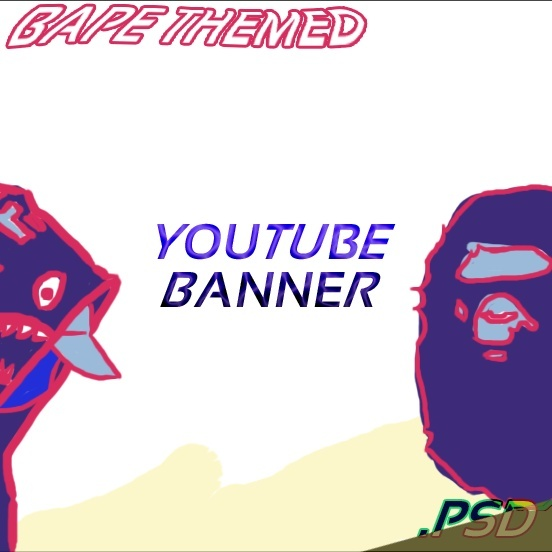 Bape Themed Youtube Banner PSD