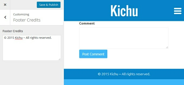 Kichu Footer Credits Extension