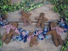 #457 Prim Gingerbread Man e pattern