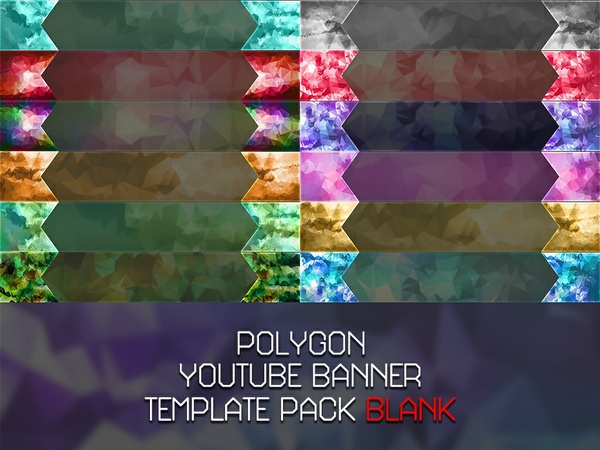 Blank Polygon YouTube Banner Pack