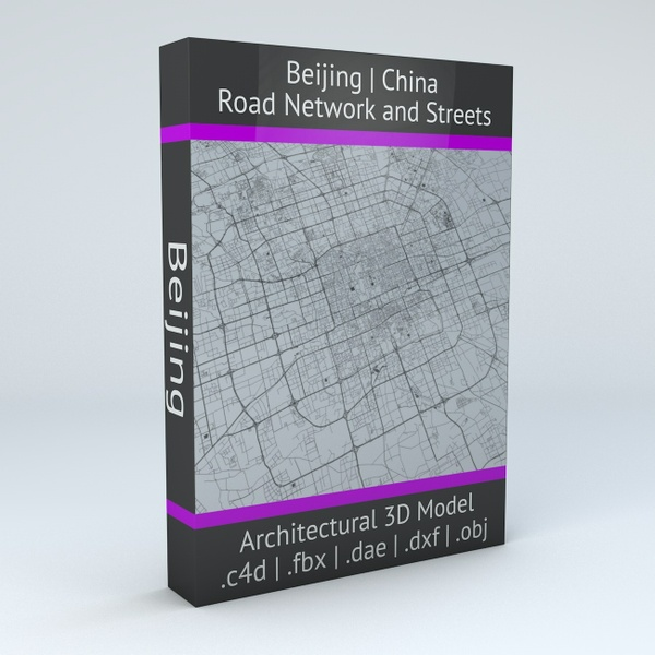 Beijing Road Network and Streets Architectural 3D Model
