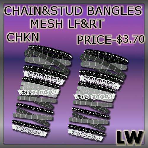 Chain And Stud Bangles LF&RT MESH