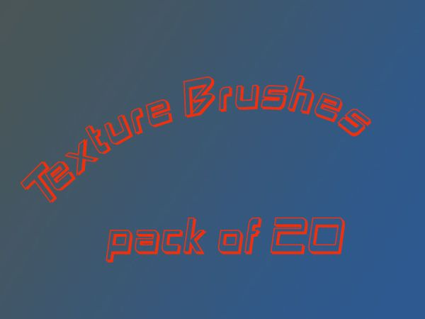 Texture Brushes for Photoshop Pack of 20