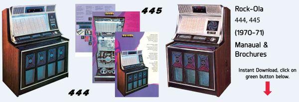 Rock-Ola 444, 445  (1970-71)