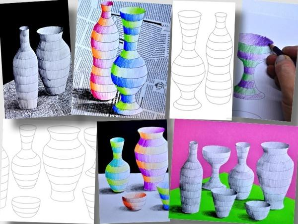 Bottiglie a righe: 3 fogli di lavoro