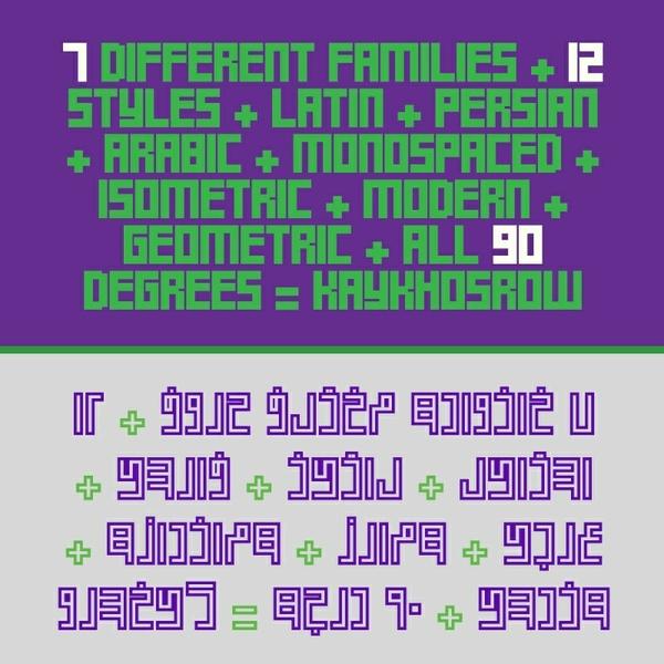 Bundle: 12+1 Latin & Non-Cursive Persian Fonts!