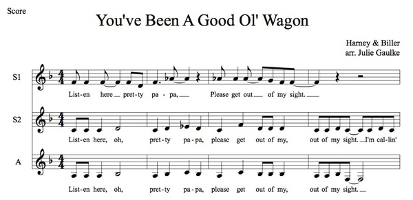 You've Been A Good Ol' Wagon MP3 Audio Learning Tracks SSA arr. Julie Gaulke
