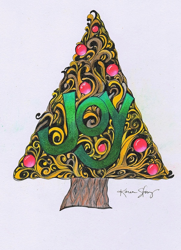 Colored Joy Christmas Tree