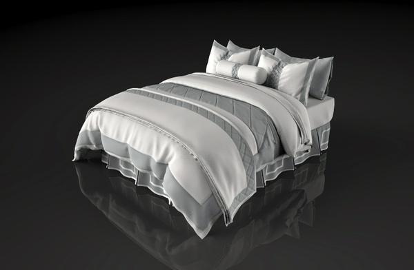 5 x ENSEMBLE BED PACKAGE - CUSTOM DESIGNED 3D BED MODELS