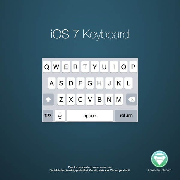 iOS 7 iPhone Keyboard