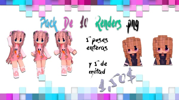 Pack de 10 renders .png