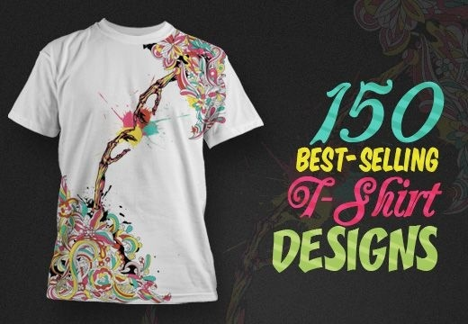 150 Best-Selling T-shirt Designs with an Extended Royalty License