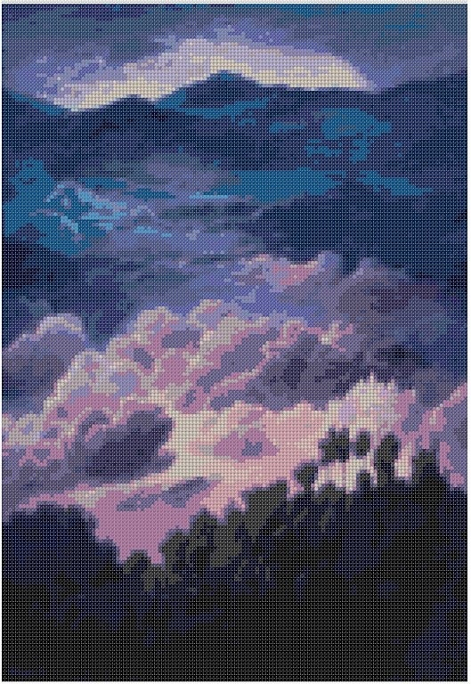 cross stitch pattern Mar-048c