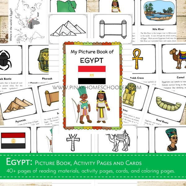 EGYPT:  Picture Book, Activity Pages and  Cards