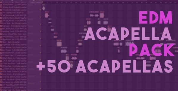 60 EDM ACAPELLAS PACK