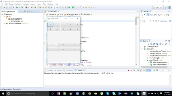 11. Eleventh Assignment – JavaFX User Interface for Calculator Solution