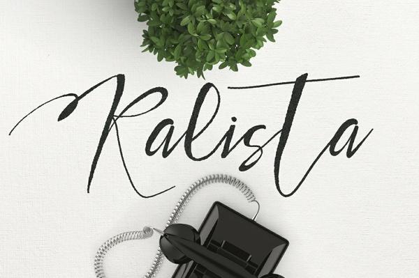 Kalista Typeface Brush Font
