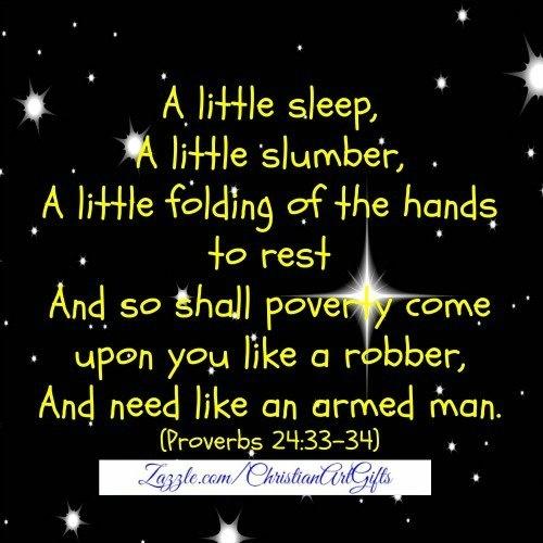 A little sleep, a little slumber Bible verse print