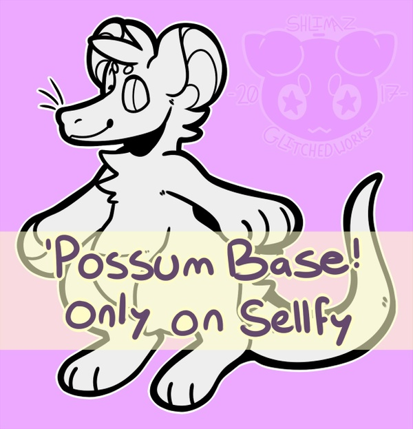 Opossum Lineart Base!