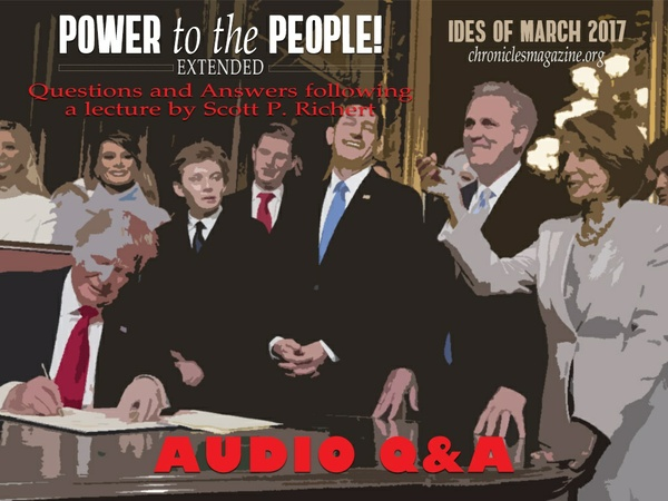 Q&A: Power to the People! Right and Left in the Age of Trump, by Scott P. Richert