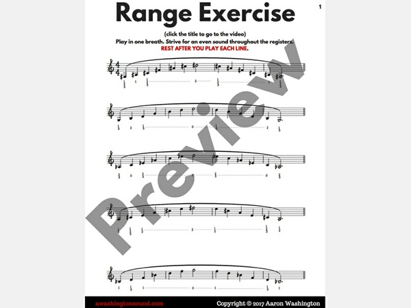 Range Exercise for Trumpet