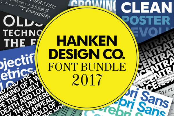 Hanken Design Co. Font Bundle 2017