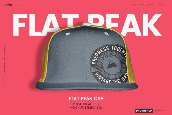 Flat Brim Hat Photoshop Template