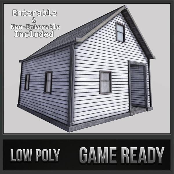 Boston House 03 - Enterable | 3D Low Poly Models