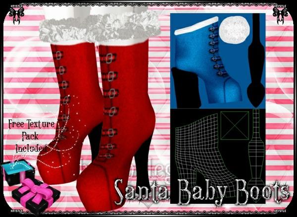 💎 Santa Baby Boots [Mesh]