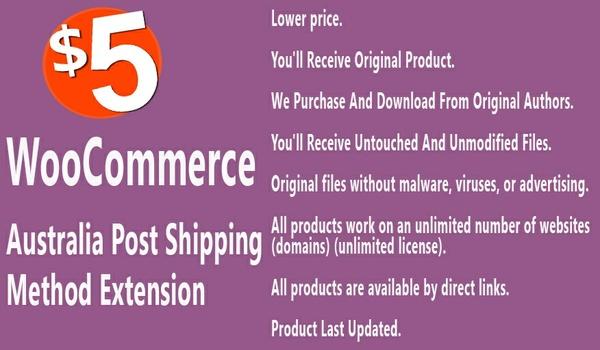 WooCommerce Australia Post Shipping Method Extension