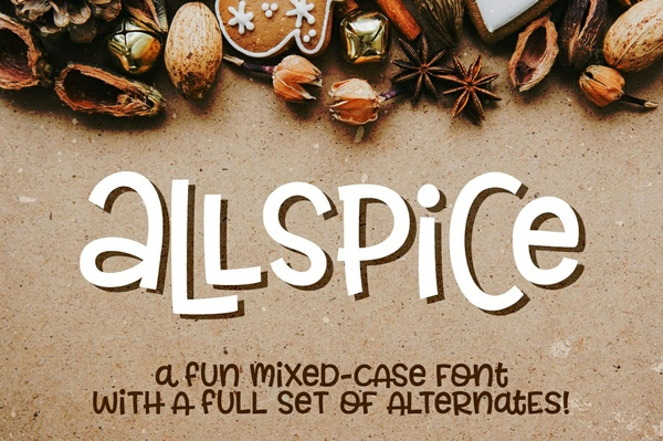 Allspice: a fun mixed-case font!
