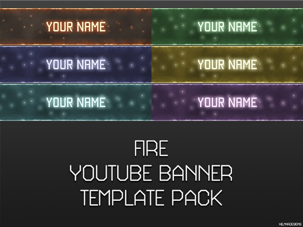 Fire YouTube Banner Template Pack