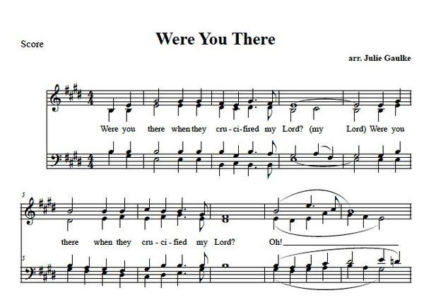 Where You There - original arrangement SATB (simple)