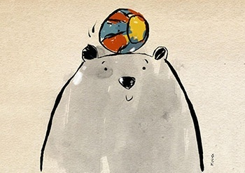 Cute Bear and the Beach Ball