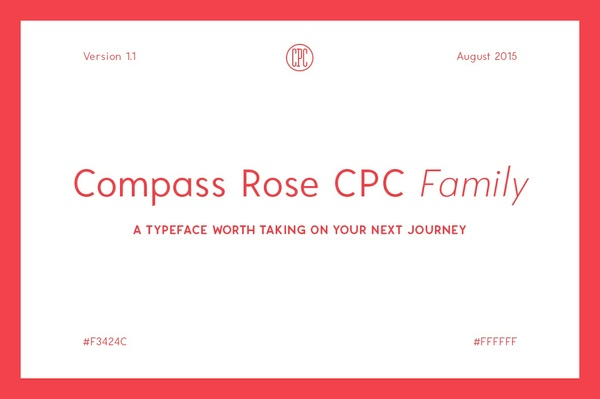 Compass Rose CPC Family - A typeface worth taking on your next journey
