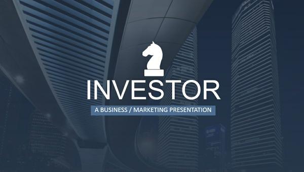 Investor PowerPoint Presentation Template