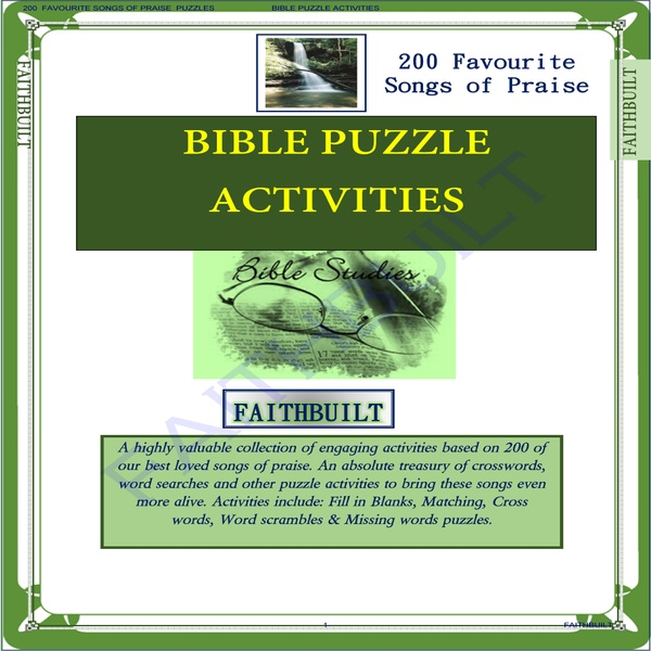 SONGS OF PRAISES PUZZLES