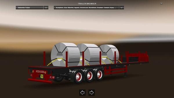 Coil Transport Trailer Loaded Version ETS2