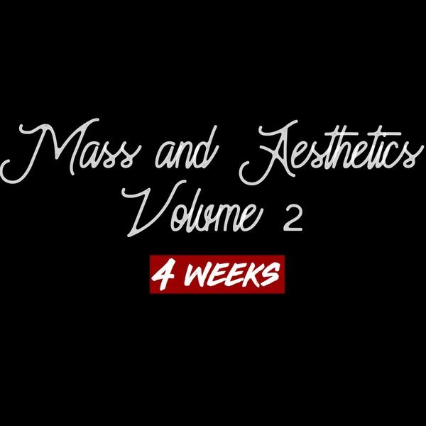 MASS AND AESTHETICS VOLUME 2 (4 WEEKS)