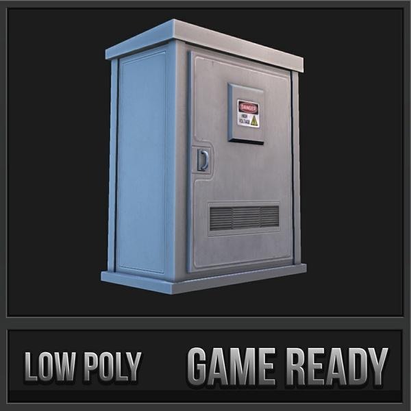 Utility Box 1 | 3D Low Poly Model
