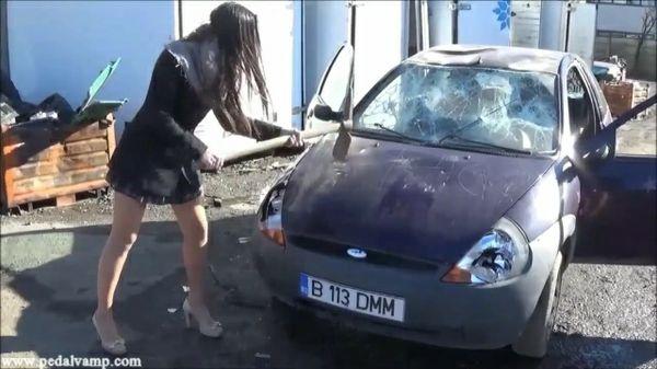 042-3 Vicky and Miss Iris destroy a Ford KA