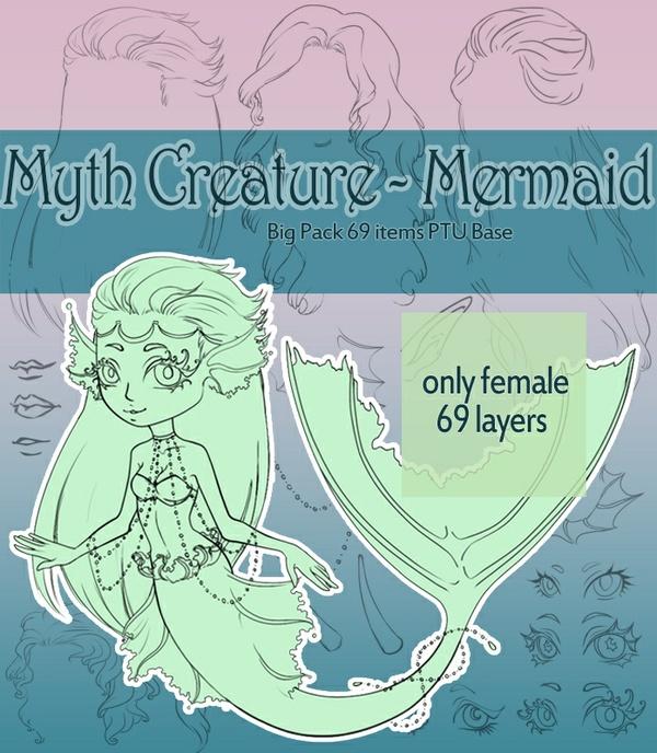 Myth Creature/Mermaid - Big Pack 69 items PTU Base
