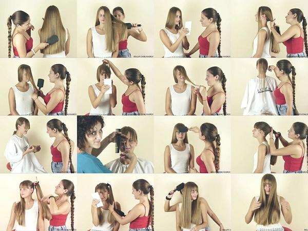 Maja Hair Styles and Bangs Cut