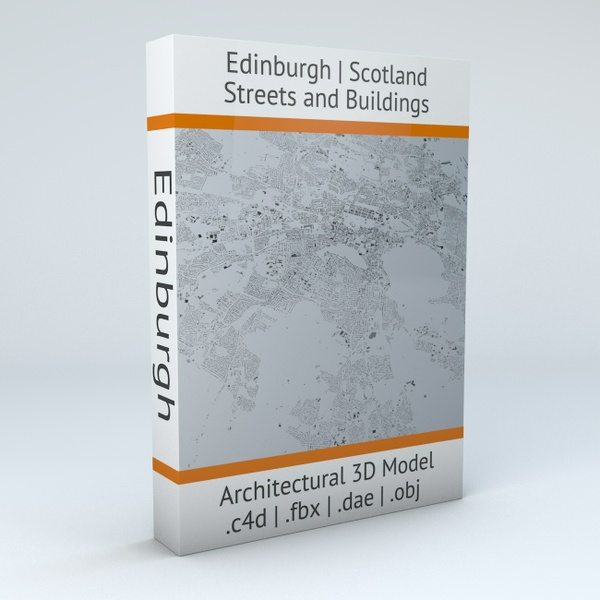 Edinburgh Streets and Buildings Architectural 3D Model