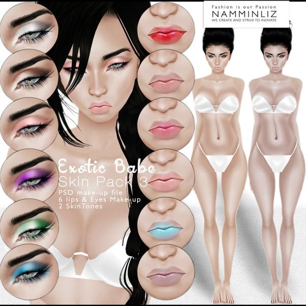 🍍🍓🍋 Exotic Babe Skin Pack3 🍍🍓🍋 ^ . ~